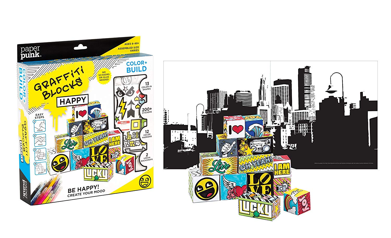 Amazon.com: Paper Punk, Graffiti Building Block Set, 3D.