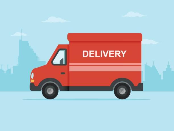 Best Delivery Van Illustrations, Royalty.