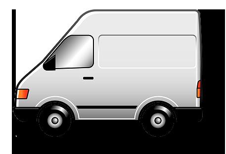 Delivery van clipart png.