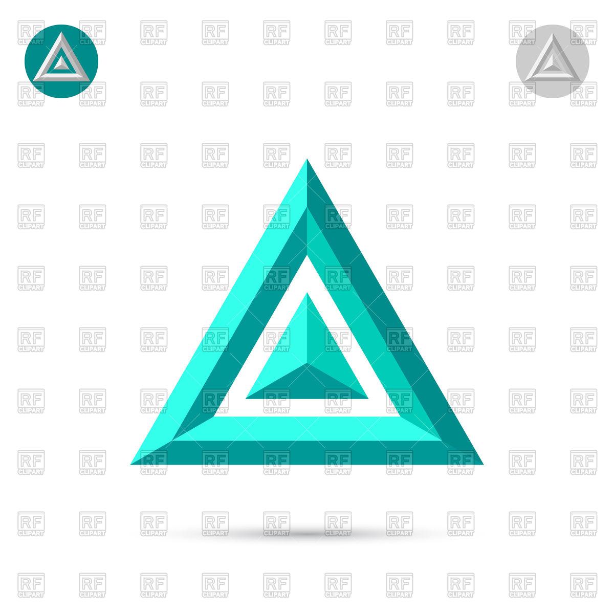 Delta letter icon Stock Vector Image.