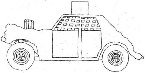 Demo Derby Car Clipart.