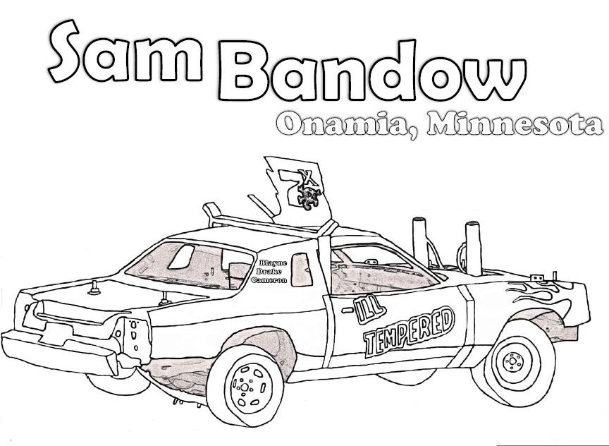 Demolition Derby Car Black And White Clipart.