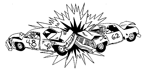 Demolition Derby Car Clipart.
