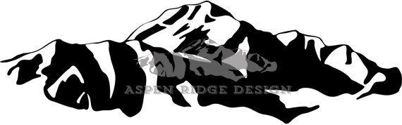 Mt. Denali ( Mt. McKinley) Graphic Clip Art Wilderness.