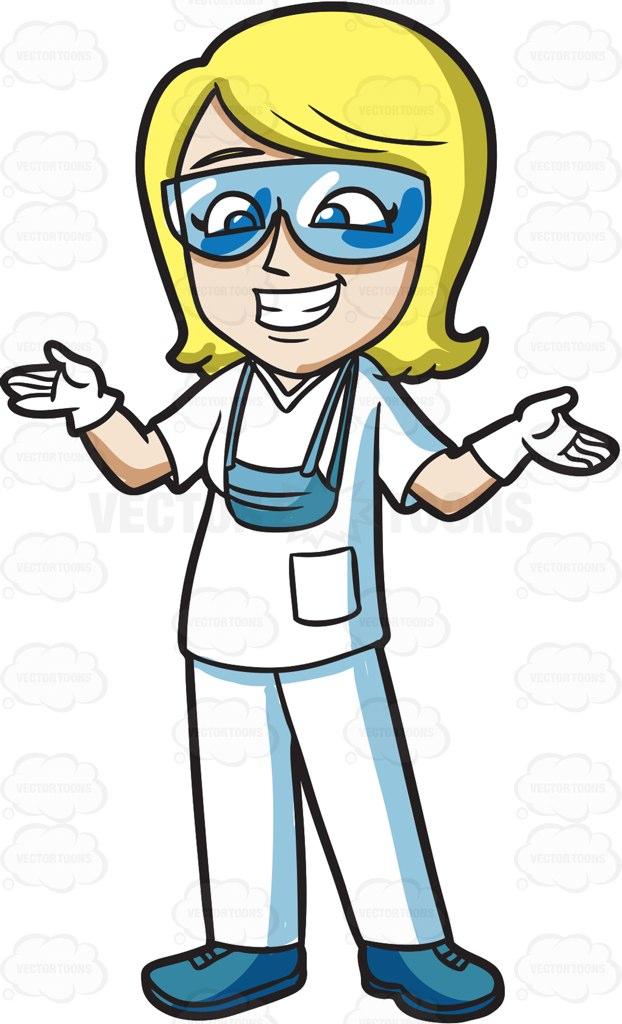An ecstatic female dental hygienist » Clipart Station.