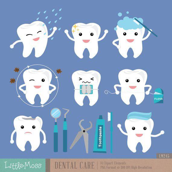 Dental Care Digital Clipart.
