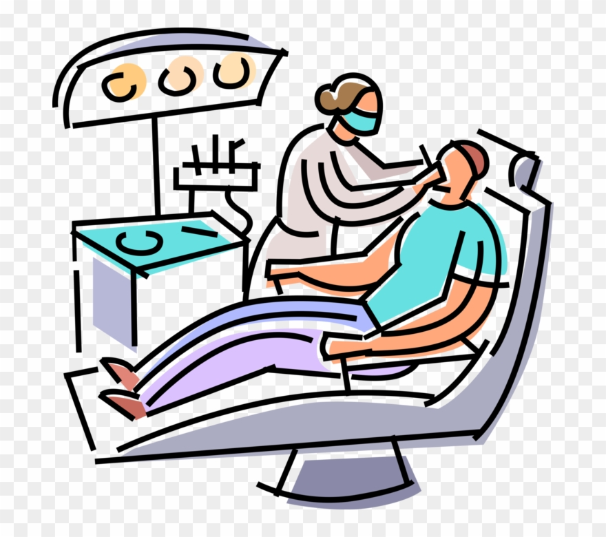 Vector Illustration Of Dentists Provides Oral Dental.
