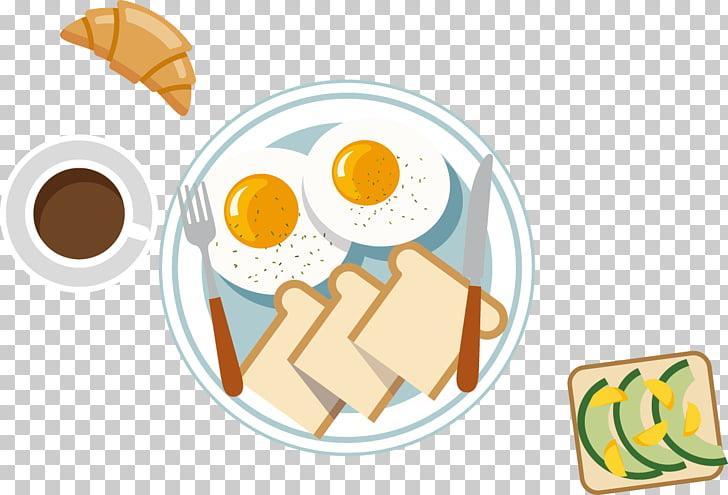 Tortilla de desayuno pan de huevo frito, desayuno occidental.