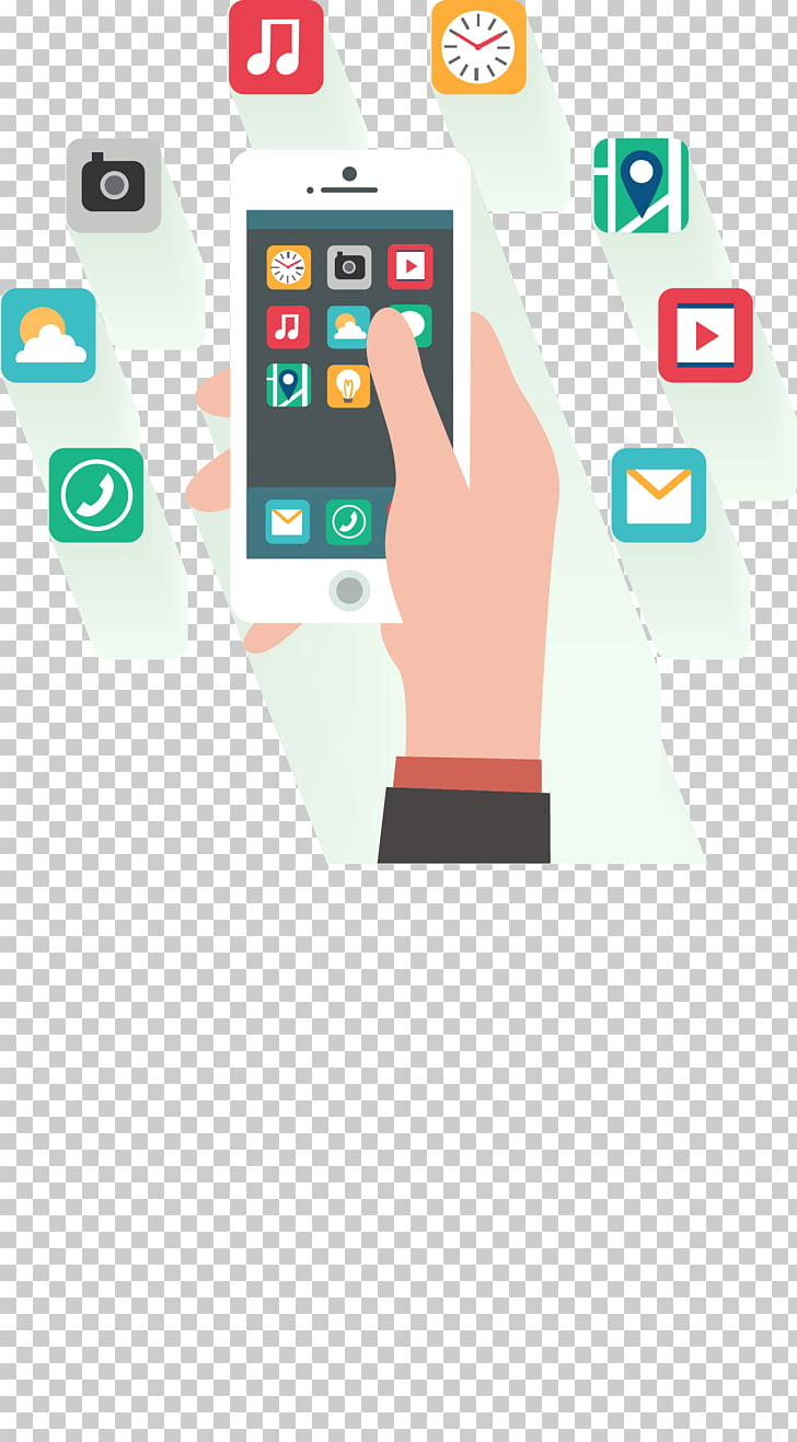 Smartphone Mobile app development Flat design, mobile phone.