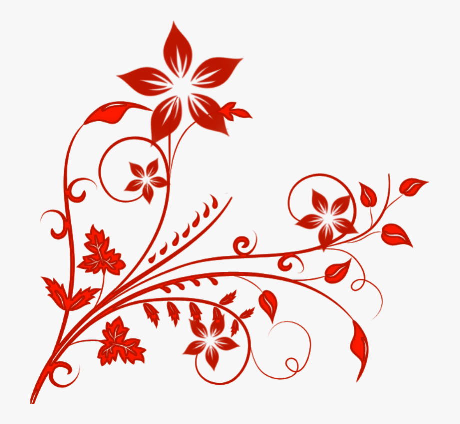 Flower Clipart, Henna Designs, Design Templates, Swirls.