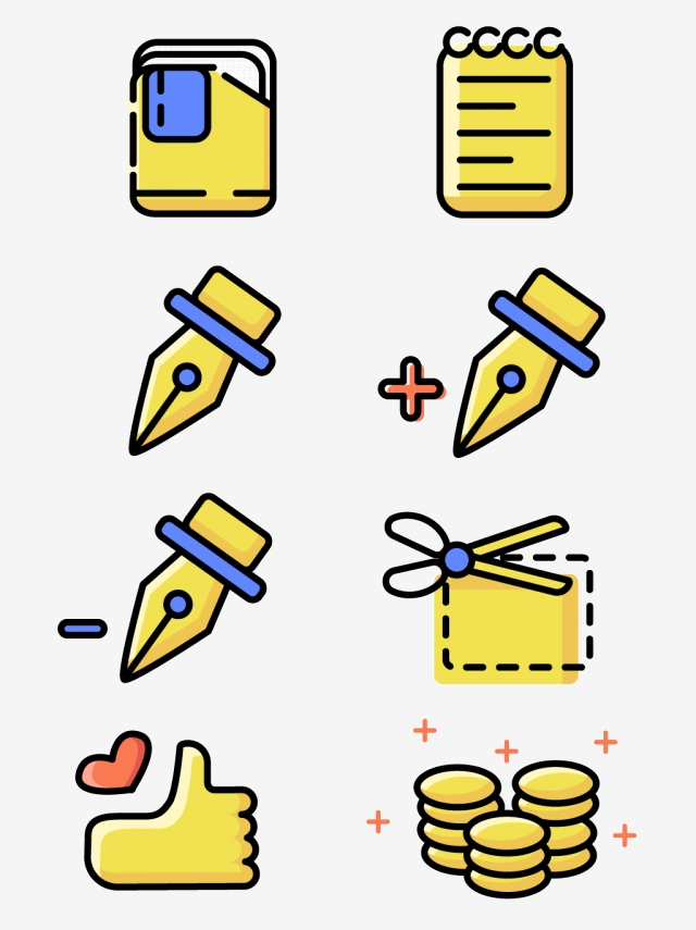 Simple Office Design Software Function Icon Material Collection.