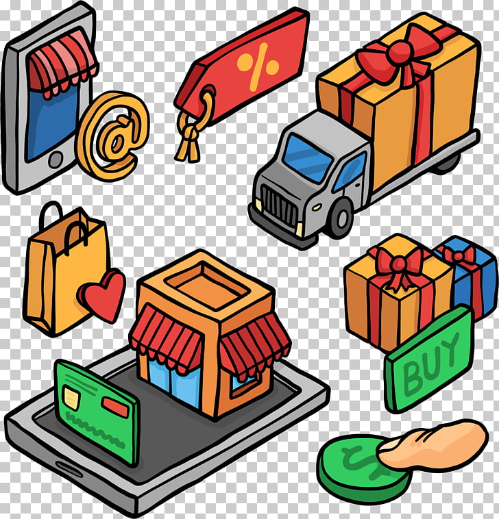 Online shopping Shopping Centre Designer, hand.