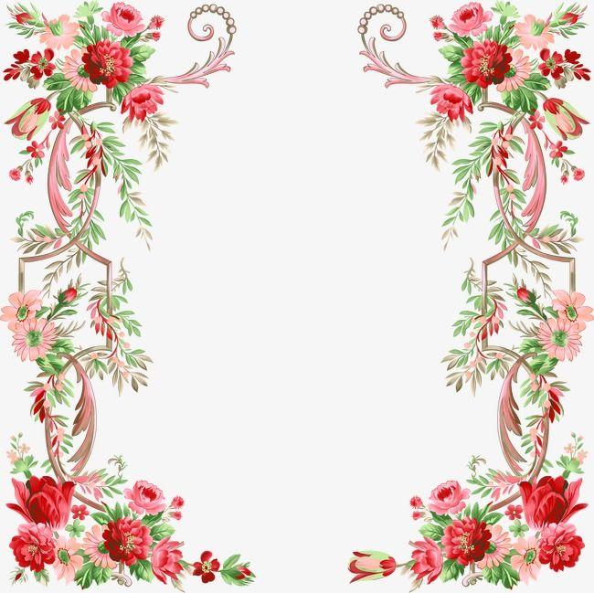 Floral Border Design, Graphic Design, Flowers, Frame PNG.