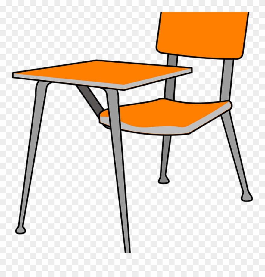 School Chair Clipart Desk School Chair Free Vector.