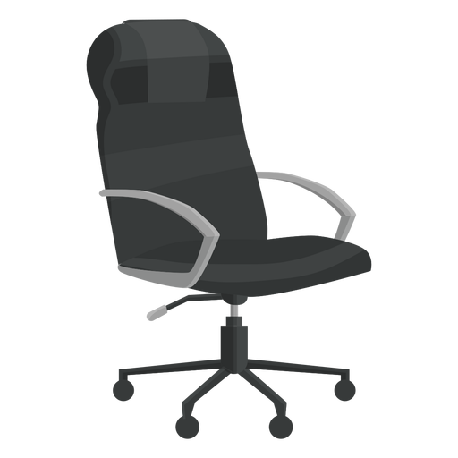 Leather office chair clipart.