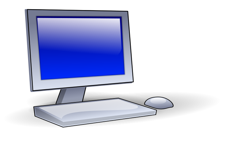 Desktop User Clipart.