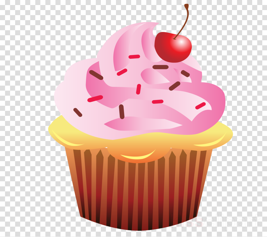 pink baking cup cupcake food dessert clipart.