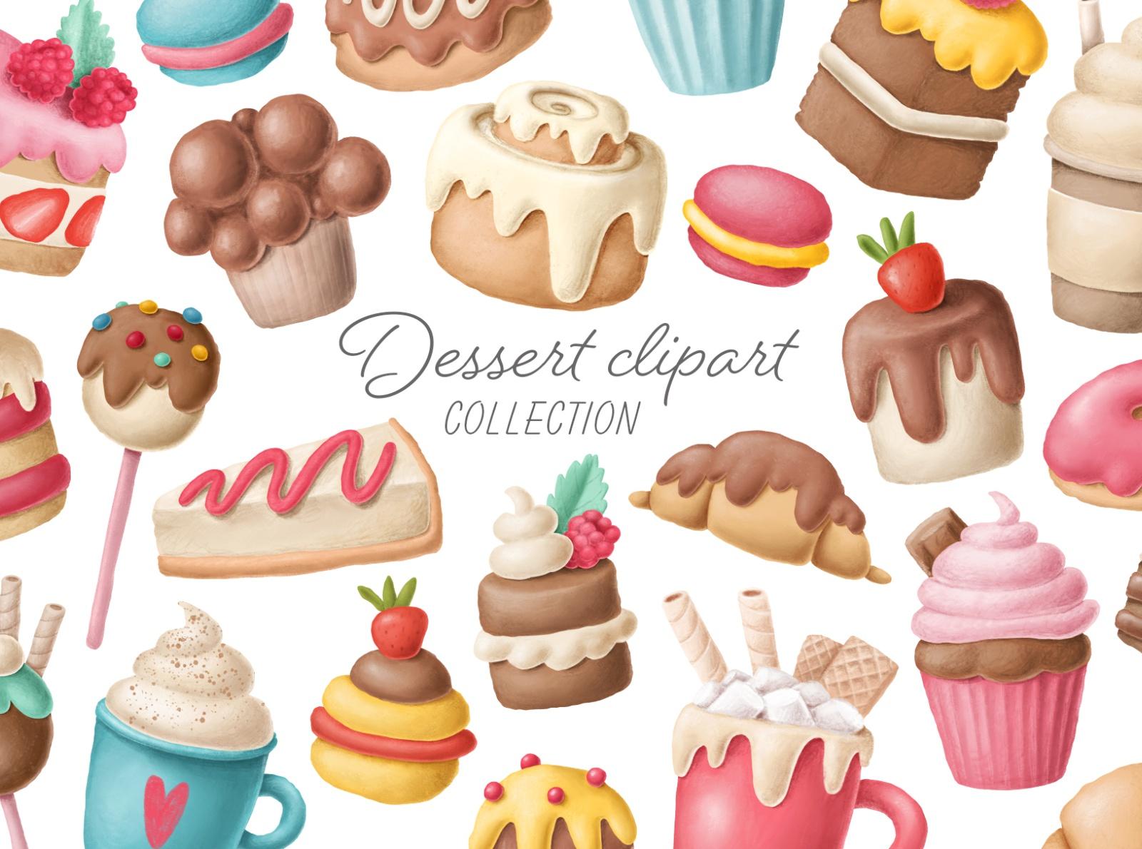 dessert clipart by Anastasiya Klempach on Dribbble.