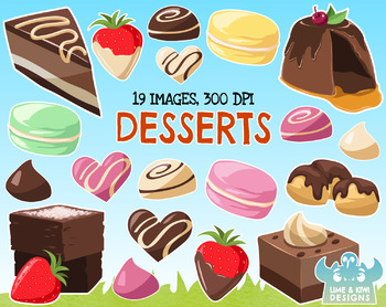 Dessert Clipart, Instant Download Vector Art, Commercial Use Clip Art.