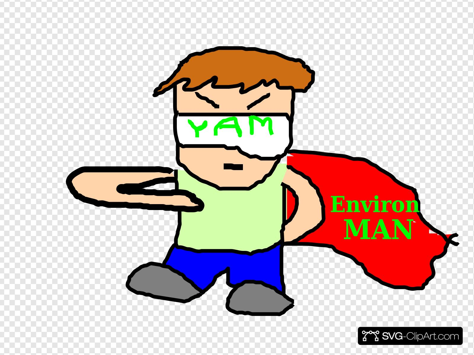 Superman Determined Clip art, Icon and SVG.
