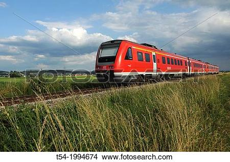 Stock Photo of Local Train of the Deutsche Bahn AG t54.