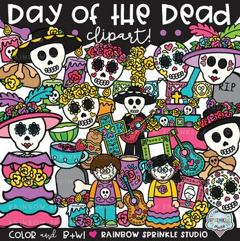 Day of the Dead Clipart {Dia de Los Muertos clipart}.