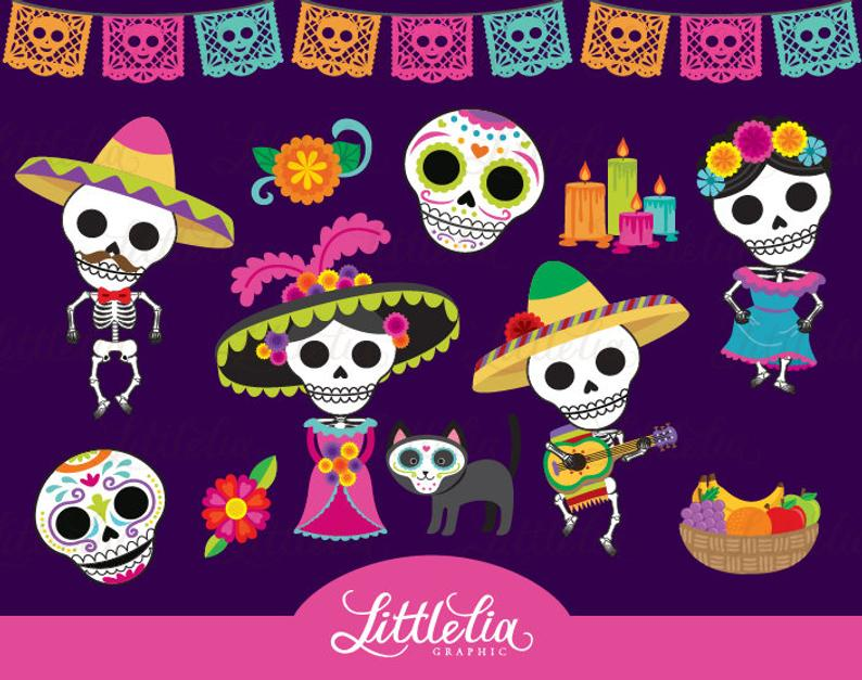 Day of the dead clipart.