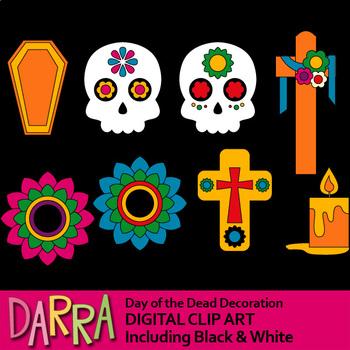 Day of the dead clipart (Dia de los Muertos) by DarraKadisha.