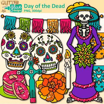 Day of the Dead Clip Art: Dia de los Muertos Graphics {Glitter Meets Glue}.