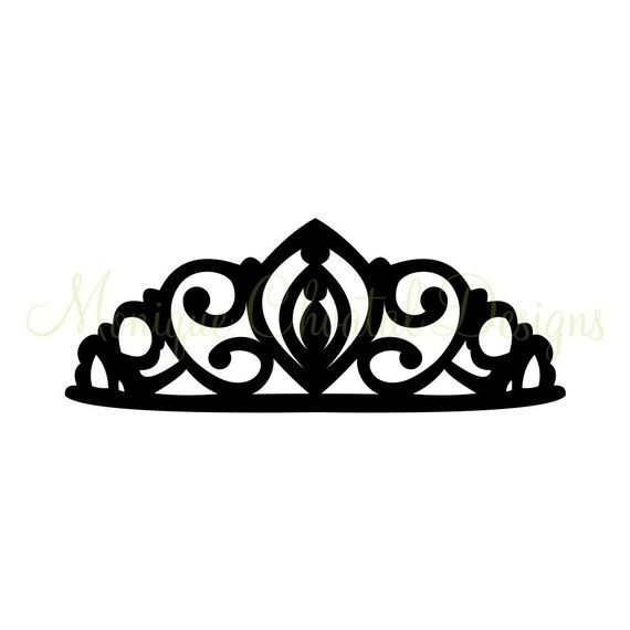 Princess Tiara Silhouette by moniquechvatal on Etsy.