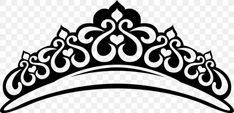 Tiara Crown Diadem Clip Art, PNG, 1367x659px, Tiara, Black.