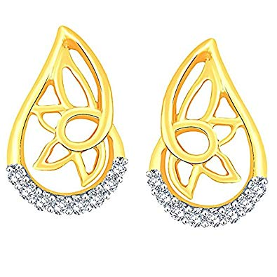 Buy Gili 14k (585) Yellow Gold and Diamond Stud Earrings.