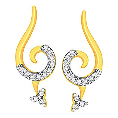 Buy Asmi 18KT Yellow Gold and Diamond Stud Earrings for.