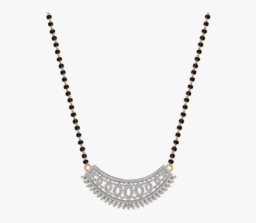 Womens 18 Karat Gold And Diamond Mangalsutra Pendant.