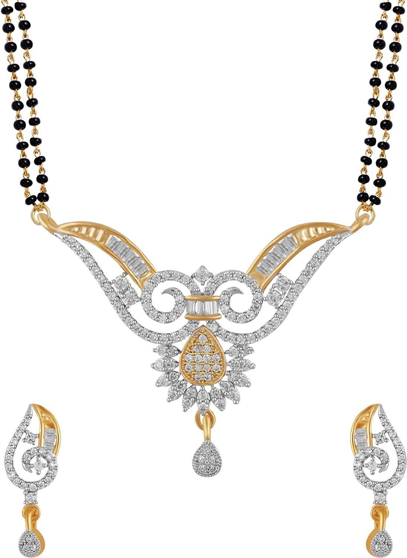 Buy Aabhu American Diamond Mangalsutra Tanmaniya Necklace.