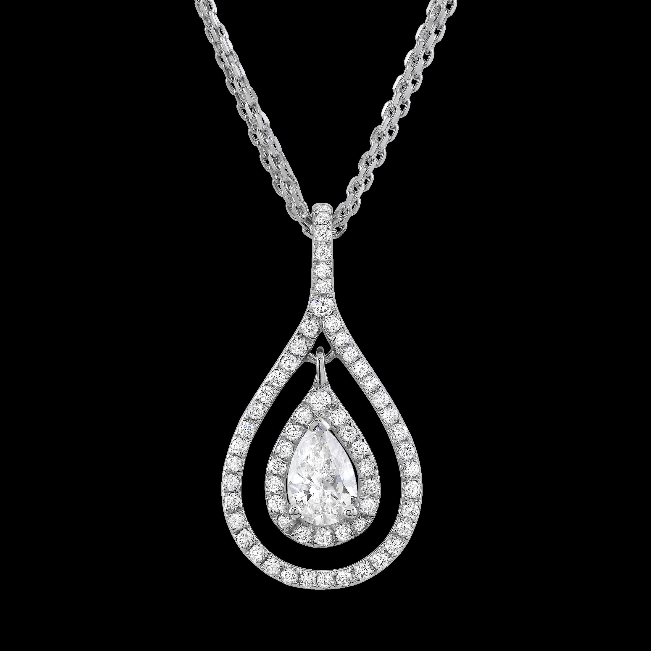 Beautiful pear cut diamond necklace.