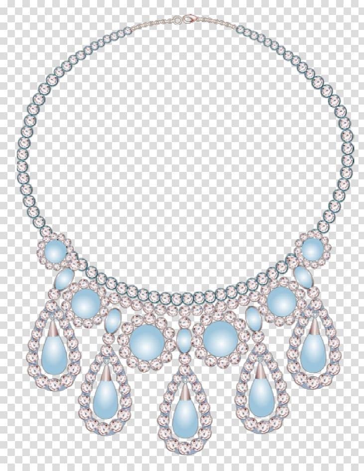 Necklace Diamond Designer Creativity, Creative beautiful.