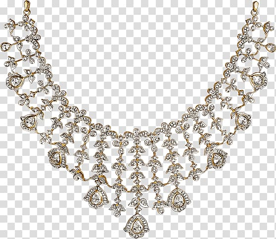 Necklace Tanishq Jewellery Gemstone Diamond, set collection.