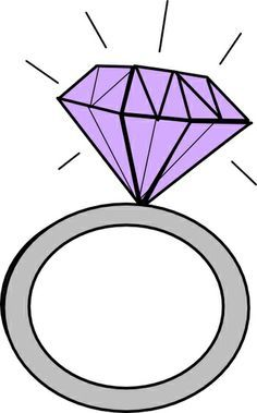 Diamond engagement ring clipart.