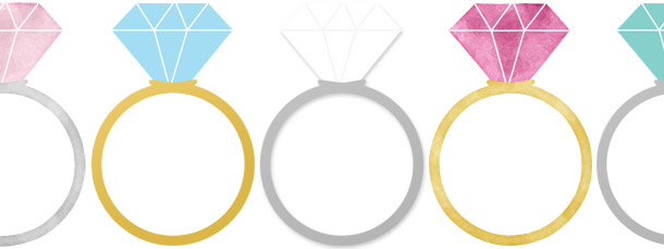 Engagement Rings Clipart Pack.