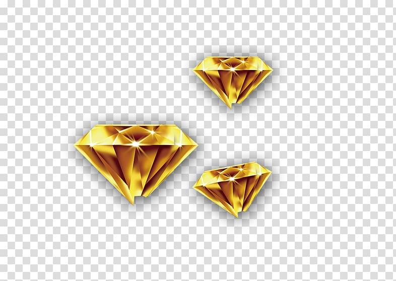 Colored gold Diamond, Gold Diamond transparent background.