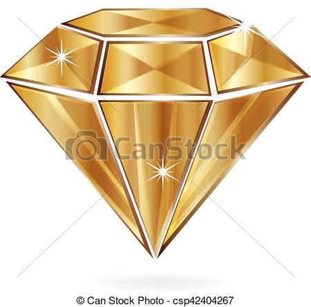Gold Diamond Shape Clipart.