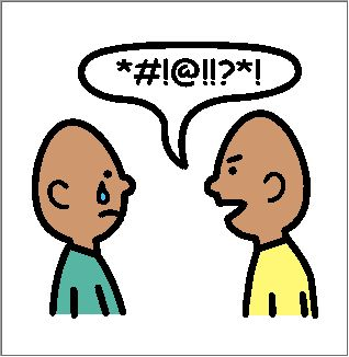 verbal bullying clipart.