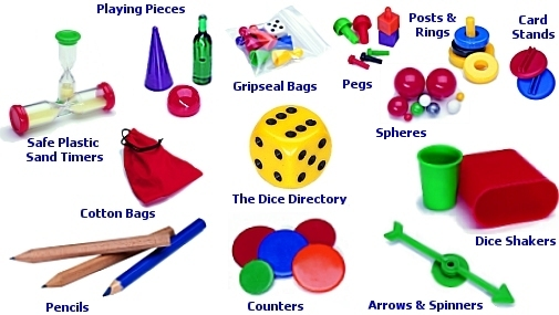 Plastic Board Games Playing Pieces Product Directory and links to.