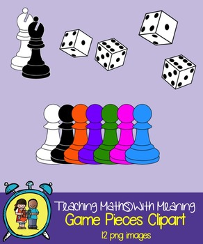 Game Pieces and Dice Clipart by Alison Hislop.