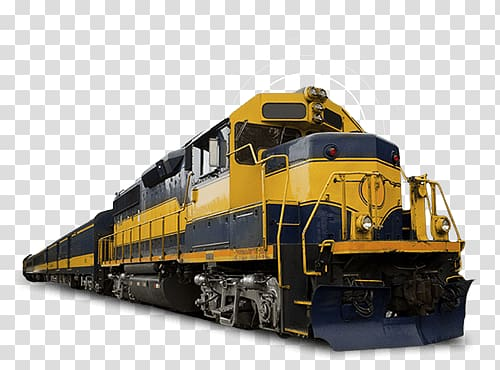 Yellow and blue train, Diesel Train transparent background.