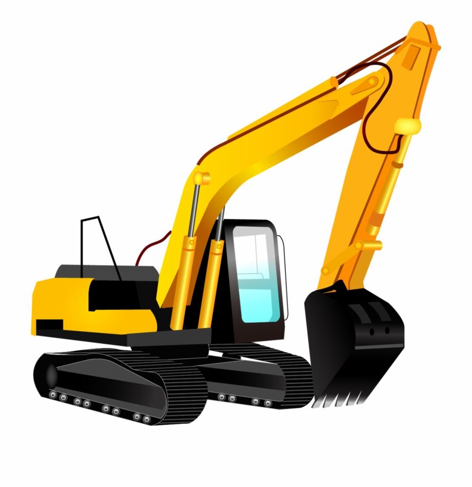 Excavator Clipart Logo.