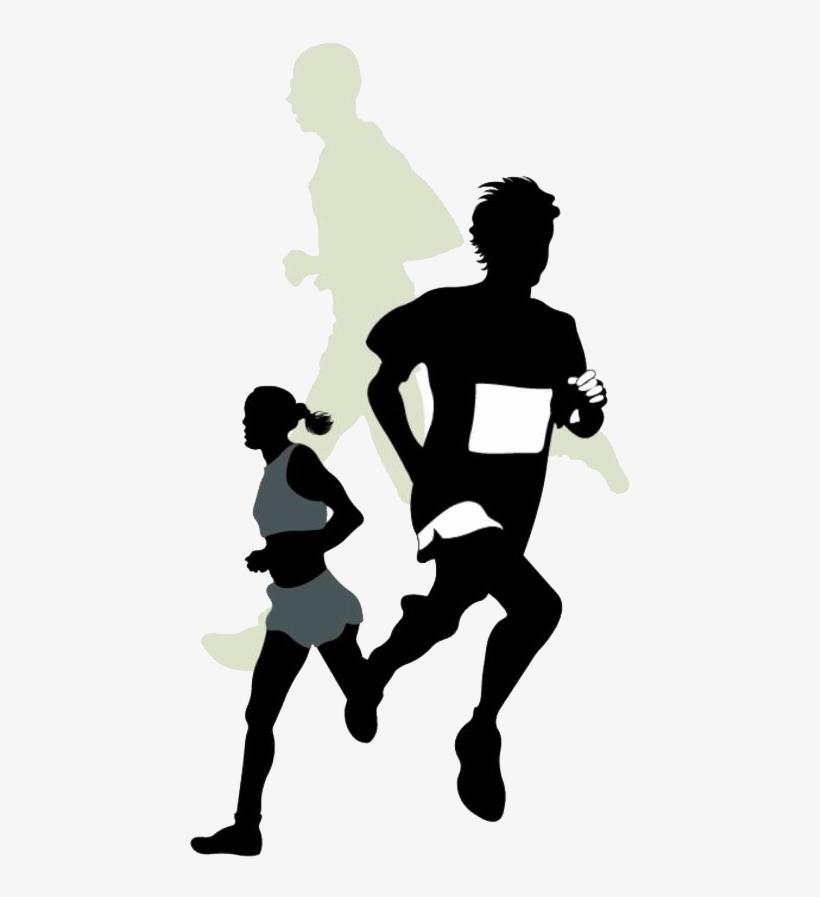K Run Marathon Racing Clip Art.