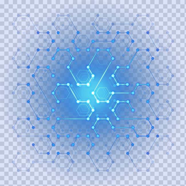 Poster Designer , Digital Technology Digital hexagon light.