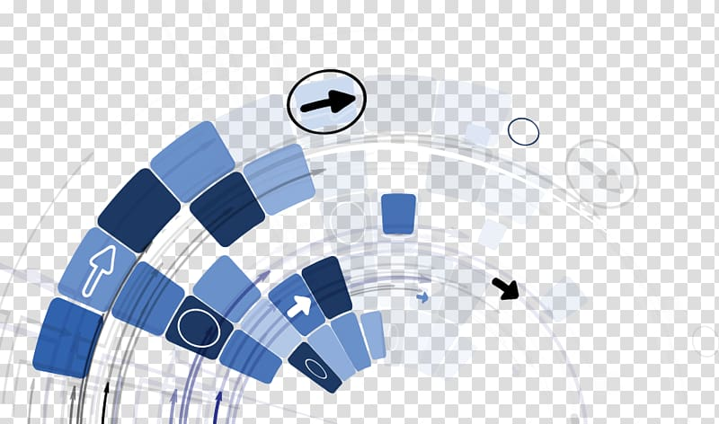 White and blue arrows , Technology Concept Abstract.